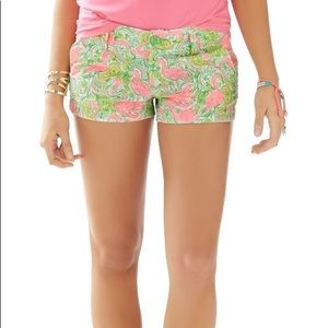LILLY PULITZER The Walsh Shorts in Flamingo Size S
